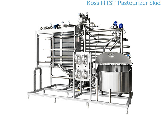 Koss Industrial stainless steel HTST pasteurization skidded system
